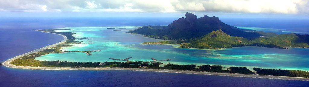 L'atoll de Bora-Bora en polynésie française
