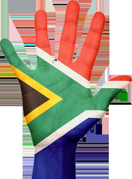 Les couleurs du drapeau de l'Afrique du Sud