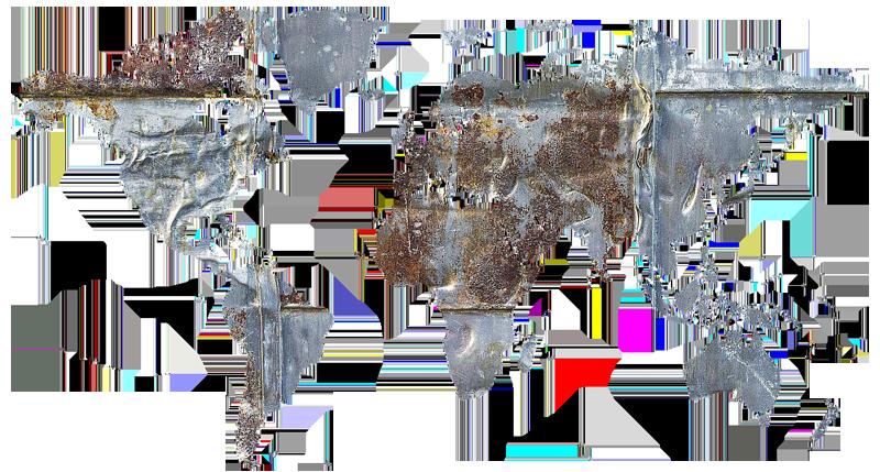 Carte-monde-metal